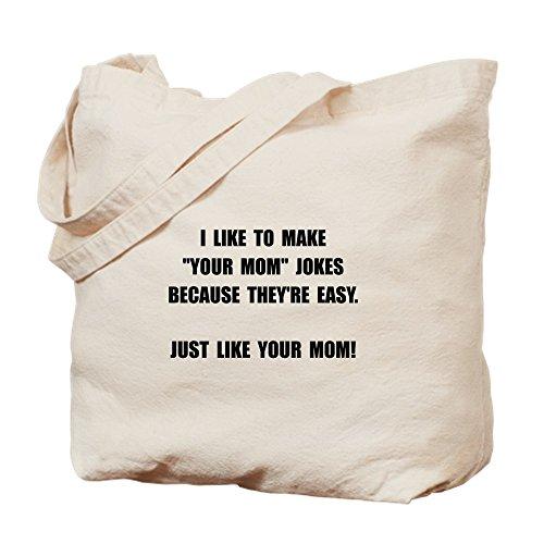 CafePress color tu mamá broma–Gamuza de bolsa de lona bolsa, bolsa de la compra Small caqui