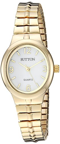 Sutton by Armitron Women's SU/1014MPGP Gold-Tone Expansion Band Watch