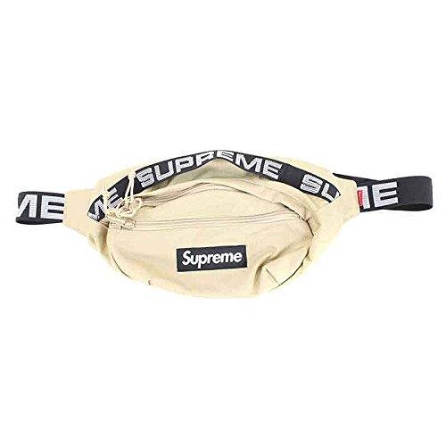 (シュプリーム) SUPREME 【18SS】【Waist Bag】ボックスロゴナイロンウエストバッグ(ベージュ) 中古 B07DTCQ2VT