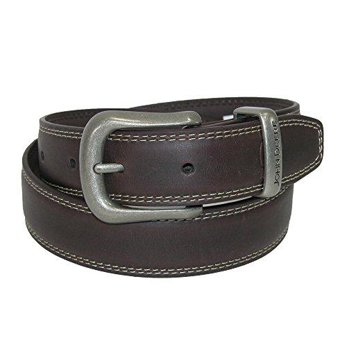 John Deere Boys' 30mm Contrast Stitch Belt, 30, Brown
