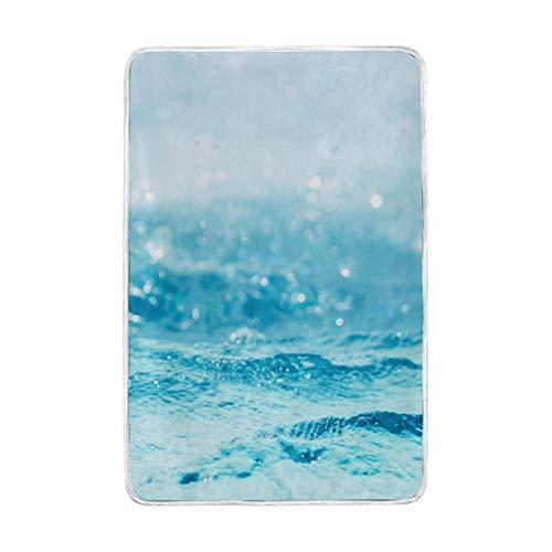 CPYang Ocean plage Wave Couvre-lit Doux et Chaud en Microfibre Lit canapé couvertures pour Adulte Filles garçons Enfants 152 x 229 cm