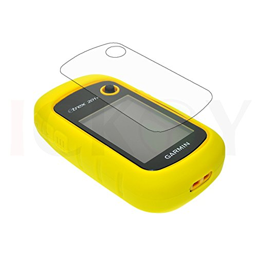 New Yellow Skin Protect Silicone Rubber Case + Screen Protector Shield Film for GPS Garmin eTrex 10 20 30 10x 20x 30x