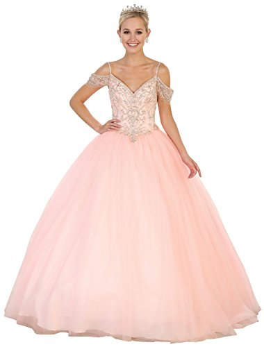 218340f49e Layla K by Formal Dress Shops LK96 Sweetheart Quinceanera Ball Gown (Blush