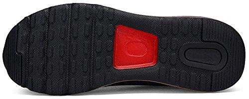 Mit Rot 5 Turnschuhe Schwarz 36 SEECEE Sportschuhe Farben Laufschuhe Sneaker Unisex Air 46 EU Dämpfung OOvPqX60