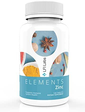 Zinc Citrate 50mg, 100 High-Potency Tablets: Natural Immune System Booster for Men & Women, Helps Promote Hormone Balance, Clear Skin, and Reproductive Health – GMO-Free