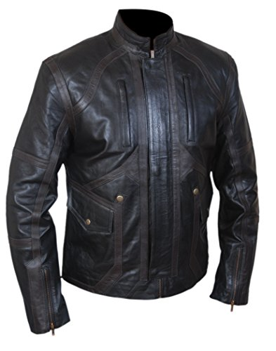F&H Boy's Sebastian Stan Bucky Barnes Genuine Leather Jacket XL Black -  Flesh & Hide, FH01455KC