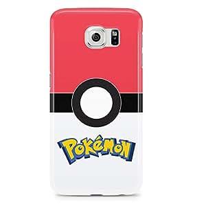 Samsung Galaxy S6 Edge Case Pokemon Case Pokeball Game-Fun Durable Light Weight Clear Edges Wrap Around Phone Cover