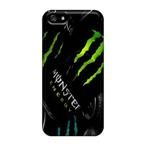 Durable Hard Cell-phone Cases For Iphone 5/5s With Allow Personal Design Stylish Monster Drink Up Skin AlissaDubois