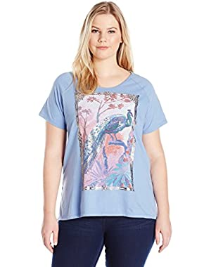 Women's Plus-Size Peacock Tee