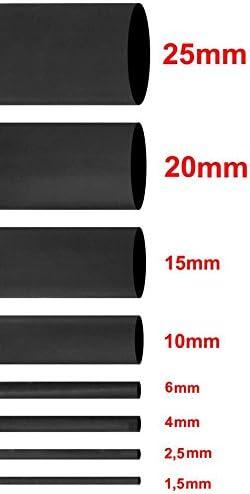 Rolle Schrumpfschlauch Schwarz in 1,5mm 2,5mm 4mm 6mm 10mm 15mm 20mm Schrumpfverh/ältnis 2:1 4,0mm // 200m
