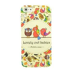 Conseguir Modelo lindo Series Owl IMD caso de TPU para el iPhone 5/5S Artesanía