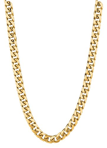 14Kt Yellow Gold Miami Cuban Curb Link Mens Chain/Bracelet 18-30