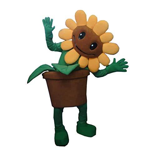 Plants Vs Zombies Sunflower Costumes - Sunflower Plants VS Zombies Mascot Costume