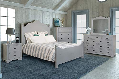 Sunset Trading HH-4270-Q-5PC Coastal Charm Bedroom Set Passion Gray
