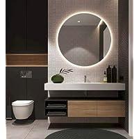 Beyaz Led Işıklı Yuvarlak Ayna 50cm Çapında Şık Banyo Ayna Dekoru