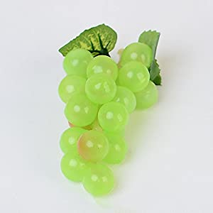 FYYDNZA 1 Bunch Artificial Vegetable Grapes Simulation Fruits Homemade Vegetables Home Garden Party Decor 35