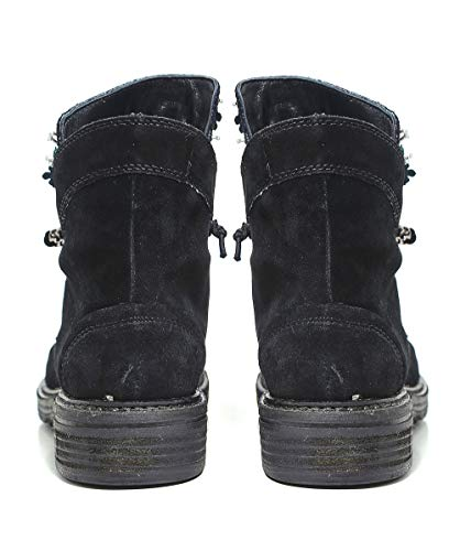 Nero Jewelled Suede Crosta Boots Donna Alma Pena En Da 1n7vqwZA8
