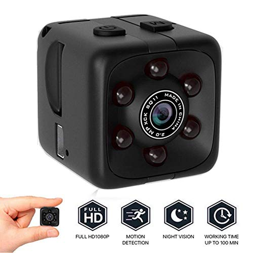 Mini Security Camera System Wireless,1080p HD Spy Camera Hidden Camera - Upgraded Night Vision and Motion Detection,Cameras for Indoor or Outdoor Surveillance,Home Office or Car Video Recorder
