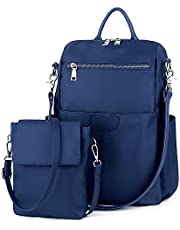 UTO Women's 3 Ways Casual Backpack Shoulder Bag Handbag Totes with Anti Theft Pocket Detachable Shoulder Strap Oxford/PU Edition Optional