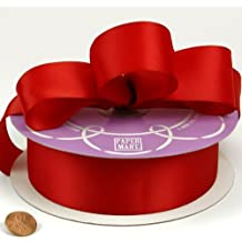 """Red Double Face Satin Ribbon, 1-1/2"""" X 50Yd"""