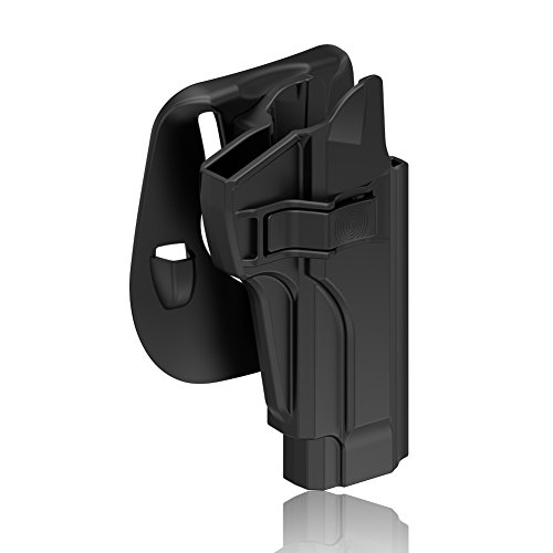 Beretta 92 92FS M9 M922 Holster, Taurus PT92 Holster Tactical Outside Waistband Paddle Holster with Trigger Release Also Fits Beretta 92 fs Holster Beretta M9 M9_22 Holster, OWB Carry, Right-Handed