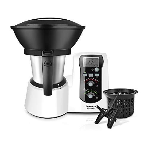 Taurus Mycook – Robot de Cocina, app mycook con miles de recetas gratuitas, Multifunción, 1600W, 2L, Inducción hasta…