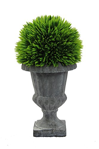 Admired By Nature ABN5P003-NTRL Faux Lemon Grass Topiary with in Urn, Small,