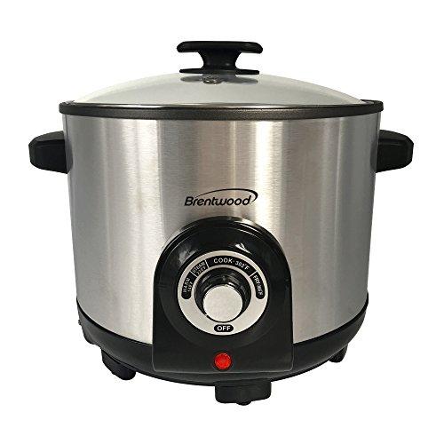 Brentwood BTWDF706 5.2-Quart Electric Deep Fryer & Multicooker, Silver