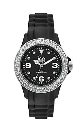 fa63a118a50a4 Ice-Watch - Ice Star Black Silver - Montre Noire pour Femme avec Bracelet en
