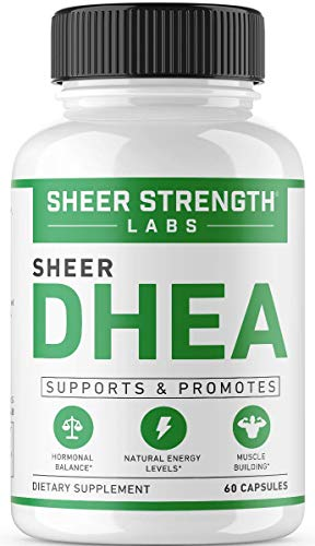 Extra Strength DHEA 50mg Supplement – for Boosting Lean Muscle Mass, Restoring Youthful Energy Levels, and Promoting Healthy Aging in Men and Women, New Non-GMO Formula, Sheer Strength Labs, 60ct