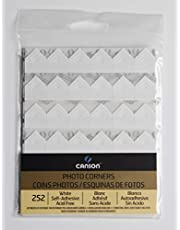 Canson Self Adhesive Photo Corners, Peel-Off Archival Quality, White, 252-Pack
