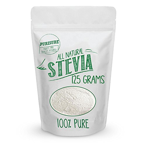 All Natural Stevia Powder 125g (846 Servings) | Highly Concentrated Pure Extract | No Fillers, Additives or Artificial Ingredients | Zero-Calorie Sweetener | Best Sugar Substitute