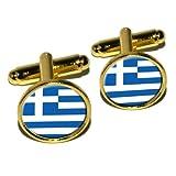 Greece Greek Flag Round Cufflink Set %2D...