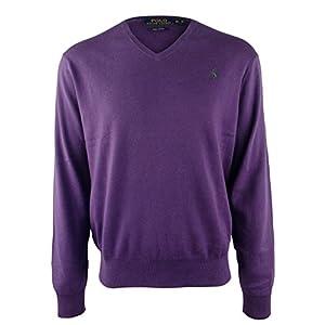 Polo Ralph Lauren Men's Pima Cotton V Neck Long Sleeve Sweater