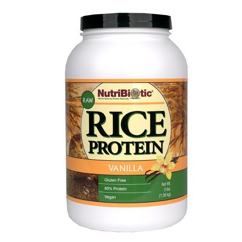 Nutribiotic Rice Protein, Vanilla, 3 Pound (Pack of 3) by Nutribiotic