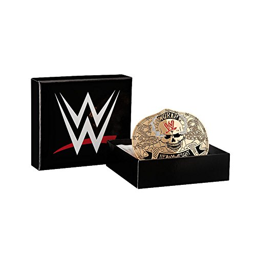 WWE Stone Cold Smoking Skull Championship Belt Buckle Black One Size by WWE Authentic Wear
