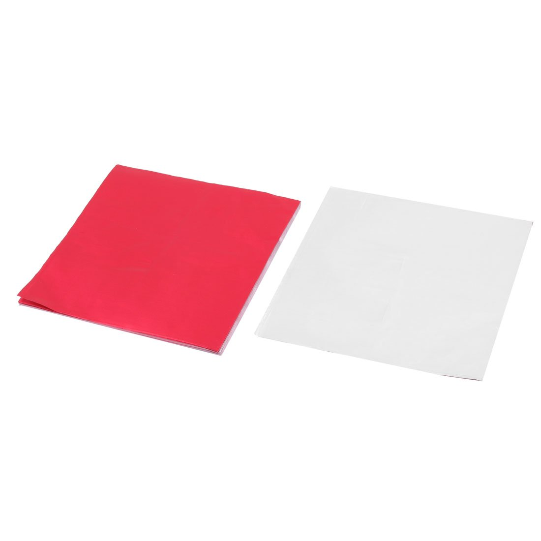 sourcingmap® Aluminum Foil Kitchen Disposable Candy Chocolate Wrapper 4 x 4 Inch 100pcs Red a17041100ux0314