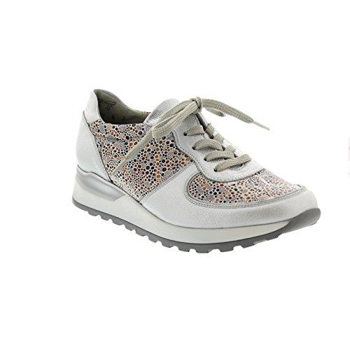 Waldläufer de à pour H64001 ville Chaussures 211 lacets 302 Silber femme rTwZrxgqBI