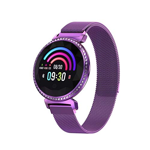 Sntsya Fitness Wristband Waterproof IP67 Fitness Tracker with Heart Rate Monitor Fitness Watch Activity Tracker Pedometer Call and SMS alerts,Purple