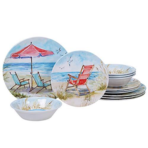 Beach Themed Dinnerware - Certified International 89529 Ocean View Dinnerware,