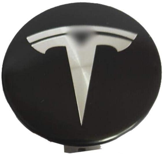 fllyingu Hub Cap Cover Wheel Hub Covers Logo Badge 4PCS Wheel Hub Centre Caps Stainless Steel Hub Cap For Tesla Model S X 3