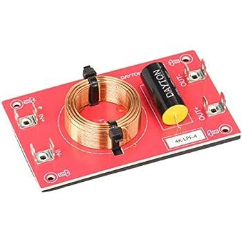 Dayton Audio 4k-LPF-4 Low Pass Speaker Crossover 4,000 Hz 12 dB//Octave