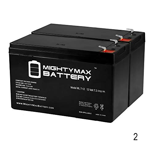 (Mighty Max Battery 12V 7AH RAZOR Scooter ES300 E200 E300 Bella Betty Daisy Vapor - 2 Pack brand product)
