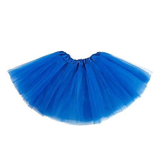 belababy Tutu Skirt for Girls 5 Layers Tulle Tutu 2-8T Royal Blue -