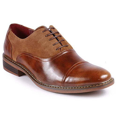 Metrocharm MC603 Men's Lace Up Cap Toe Classic Oxford Dress Shoe (13 D(M) US, -