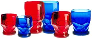 product image for Mosser Glass Georgian Tumblers Set of 4 in Red - 6 Ounces