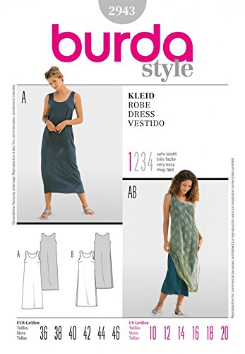 Burda Craft Sewing Pattern 2943 - Dress Sizes: One Size: Amazon.co ...