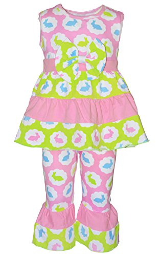 Unique Baby Girls Pastel Easter Bunny Outfit (3T/S, Pink) -