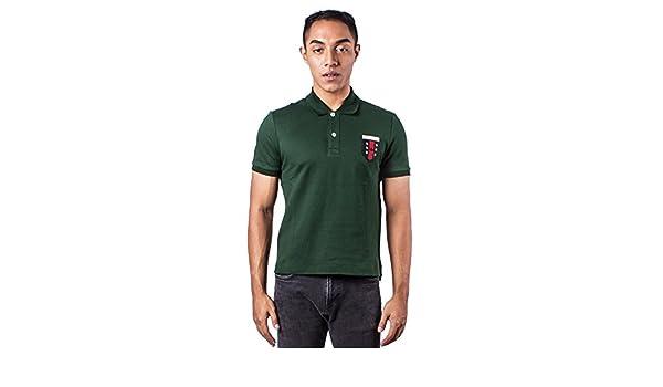 Gucci Hombres del Logotipo Bordado Verde Polo Camisa Verde Verde ...