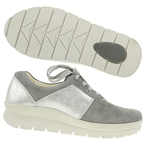 Eu Christian De Zapatos Plateado 1 Mujer 41 Para Dietz 3 Cordones Gris Cuero rq7rxRf